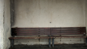 Empty bench in Weymouth