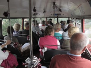 on the bus tour