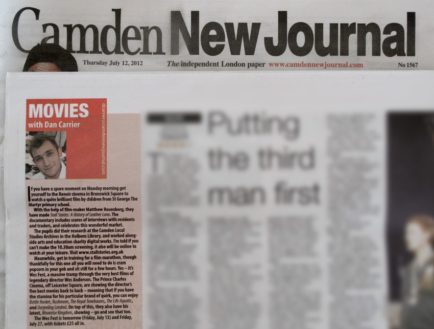 Spread from the Camden New Journal